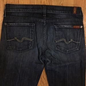 7 For All Mankind rhinestone pocket Jeans